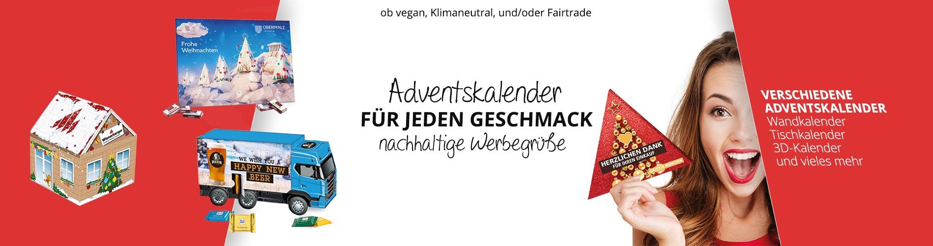 Bedruckte Werbeartikel von BizTune - bedruckte Adventskalender - nachhaltige Adventskalender - Bio Adventskalender