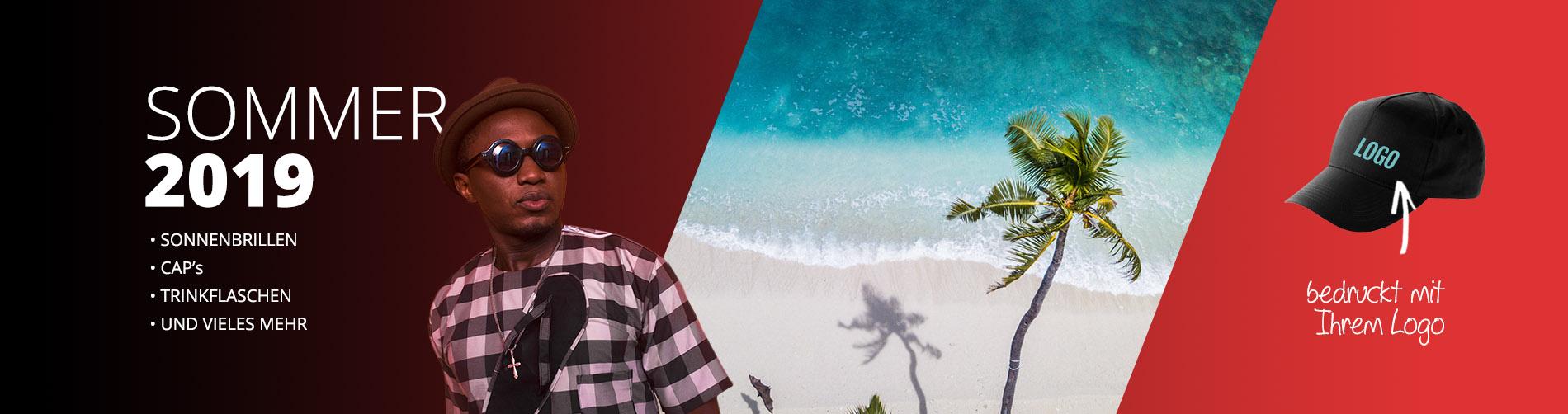 Bedruckte Werbeartikel von BizTune - Sommer 2019 - bedruckte Sonnenbrillen und vieles mehr