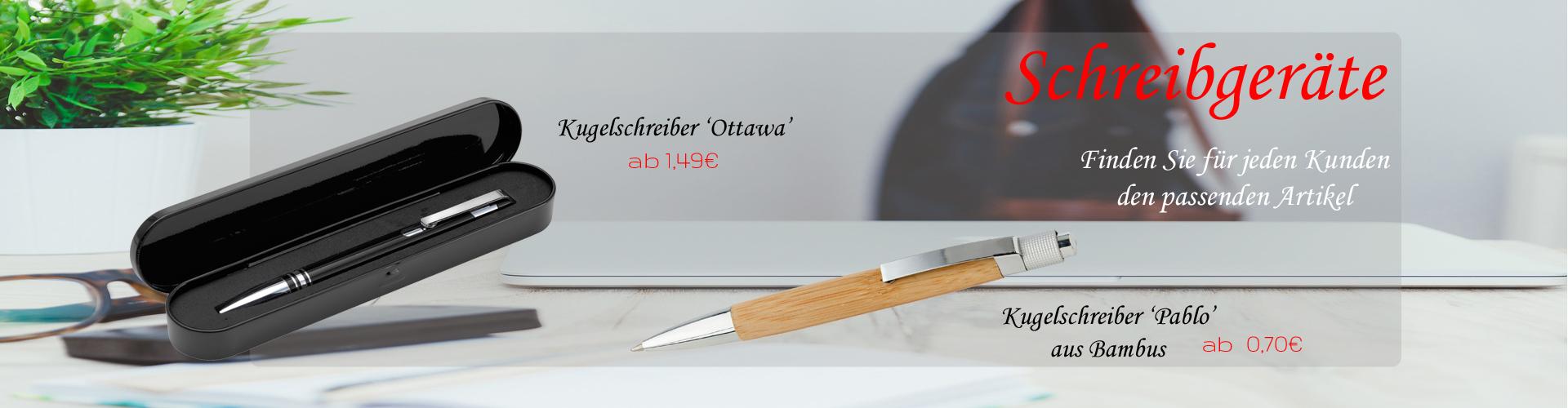 Für jeden Kunden den richtigen Stift - unsere Schreibgeräte