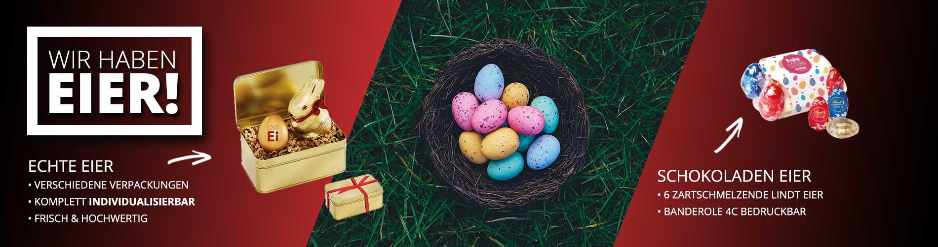 Bedruckte Werbeartikel von BizTune - bedruckte Eier